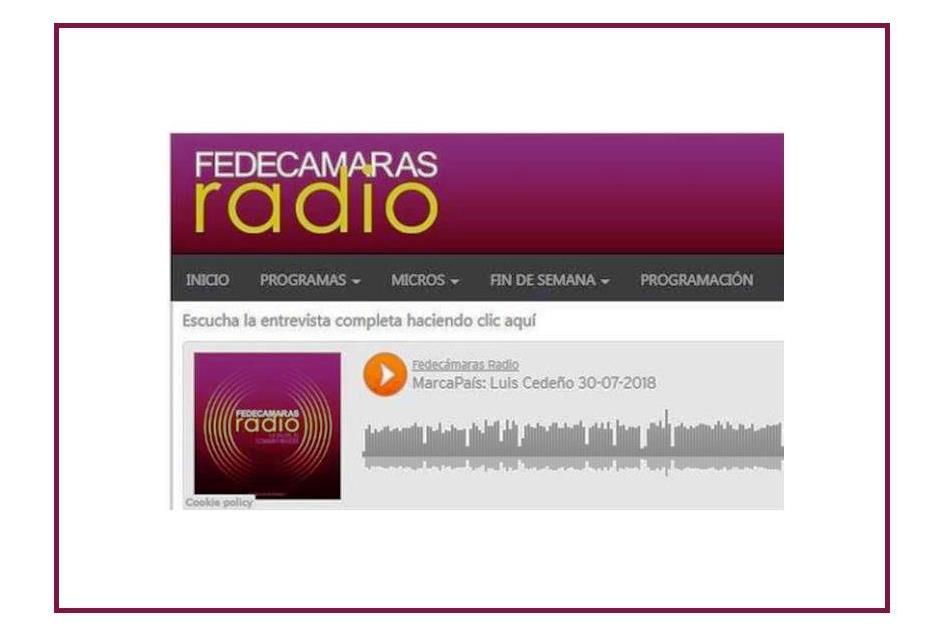 Radio Fedecámaras – Luis Cedeño – 30 JULIO 2018