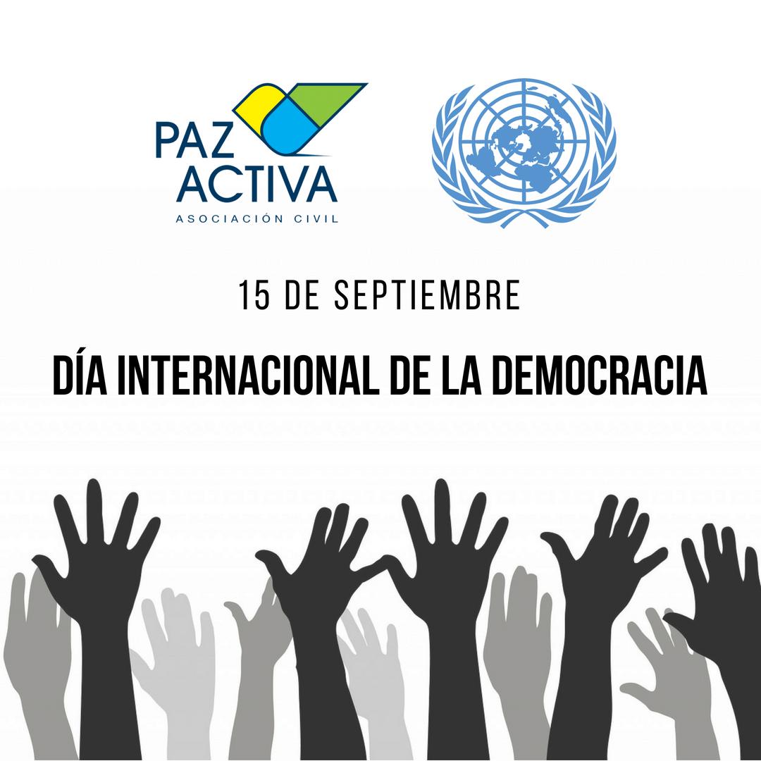 15 De Septiembre – Día Internacional De La Democracia ONU