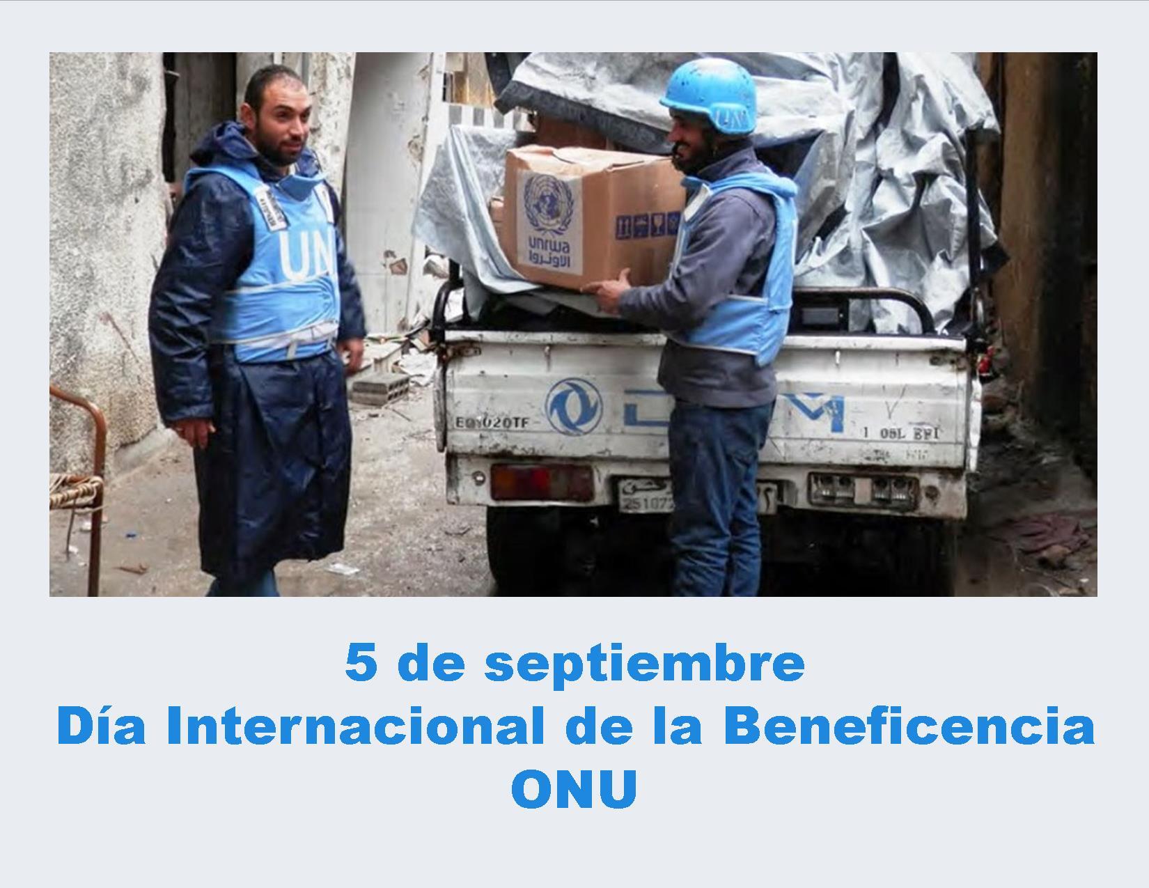 5 De Septiembre – Día Internacional De La Beneficencia ONU