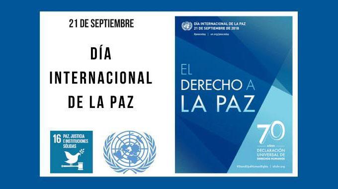 21 De Septiembre – Día Internacional De La Paz / ONU