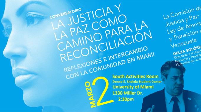 """Conversatorio """"La Justicia Y La Paz Como Camino A La Reconciliación: Reflexiones E Intercambio Con La Comunidad Venezolana En Miami"""""""
