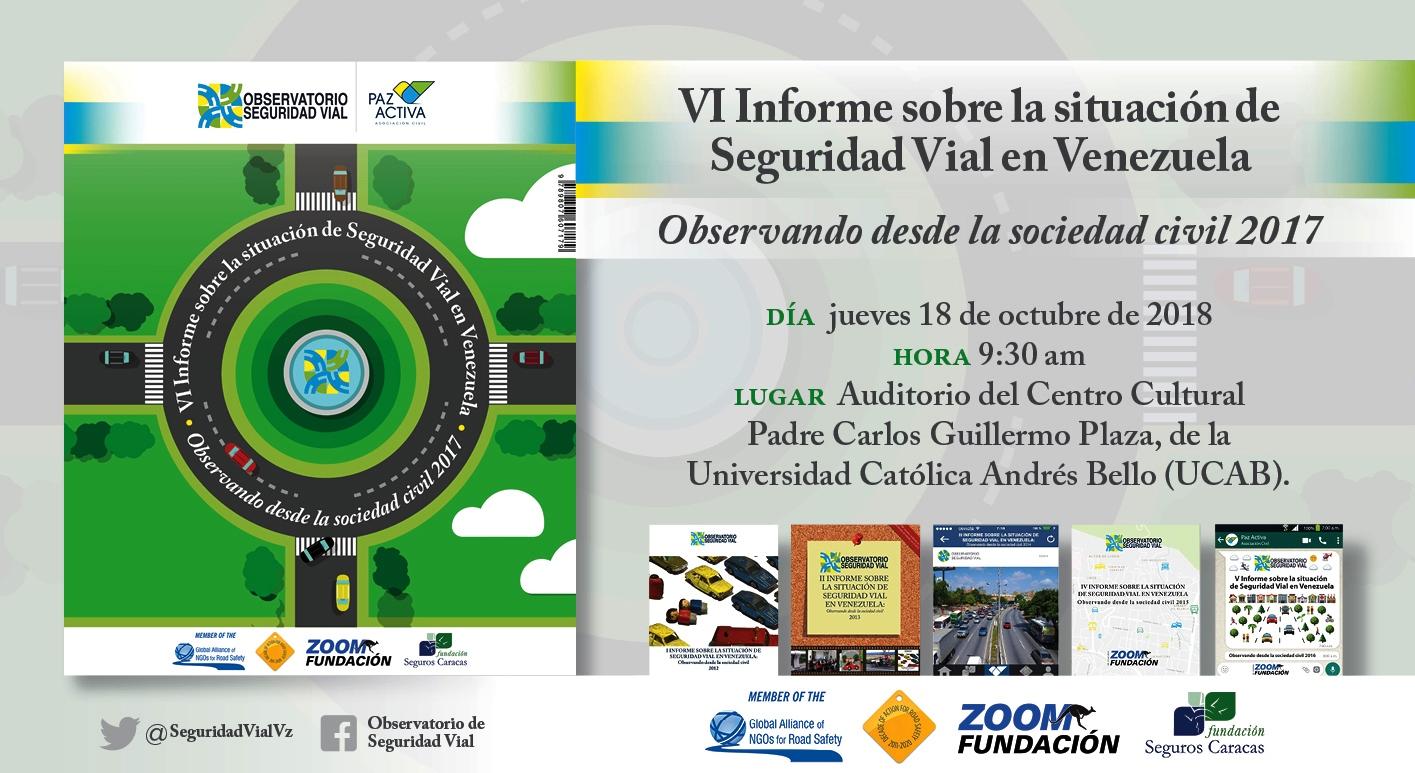 PROGRAMA Presentación  VI Informe Seguridad Vial En Venezuela – 18 OCT 2018
